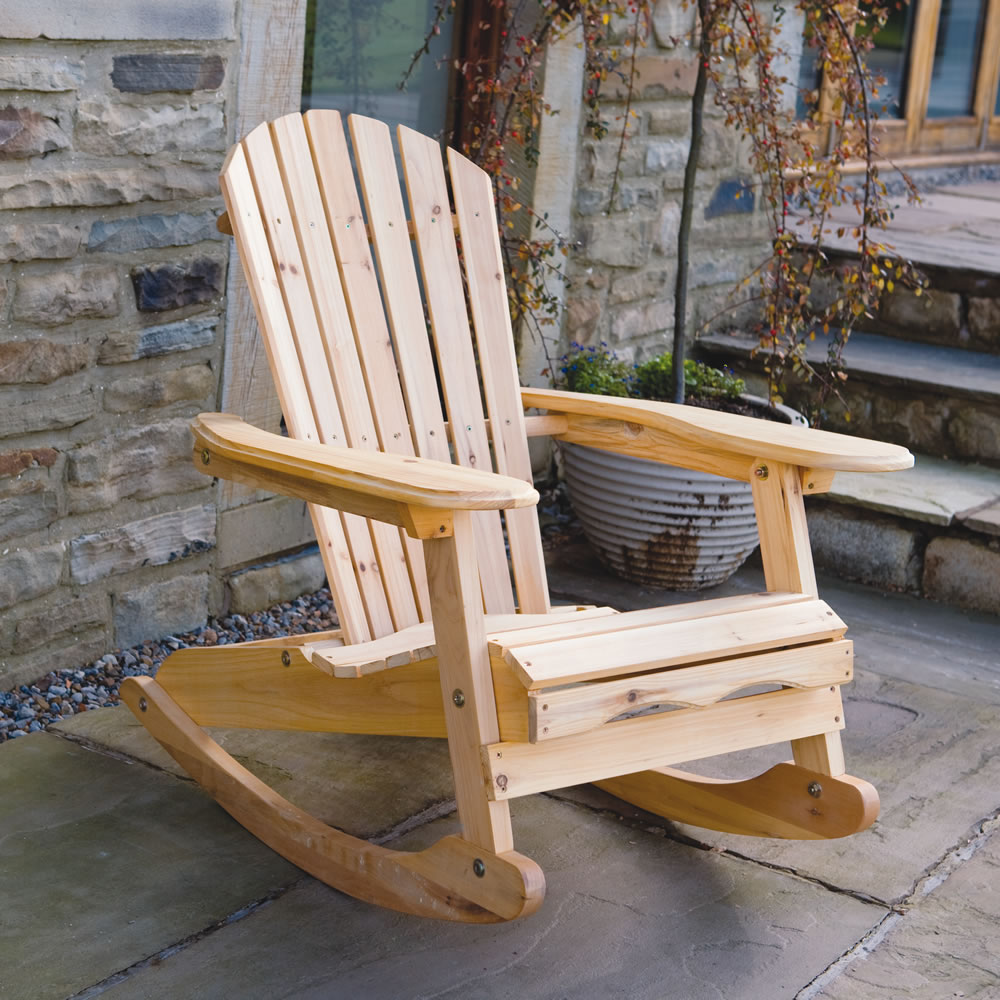 trueshopping bowland adirondack wooden rocking chair for. Black Bedroom Furniture Sets. Home Design Ideas