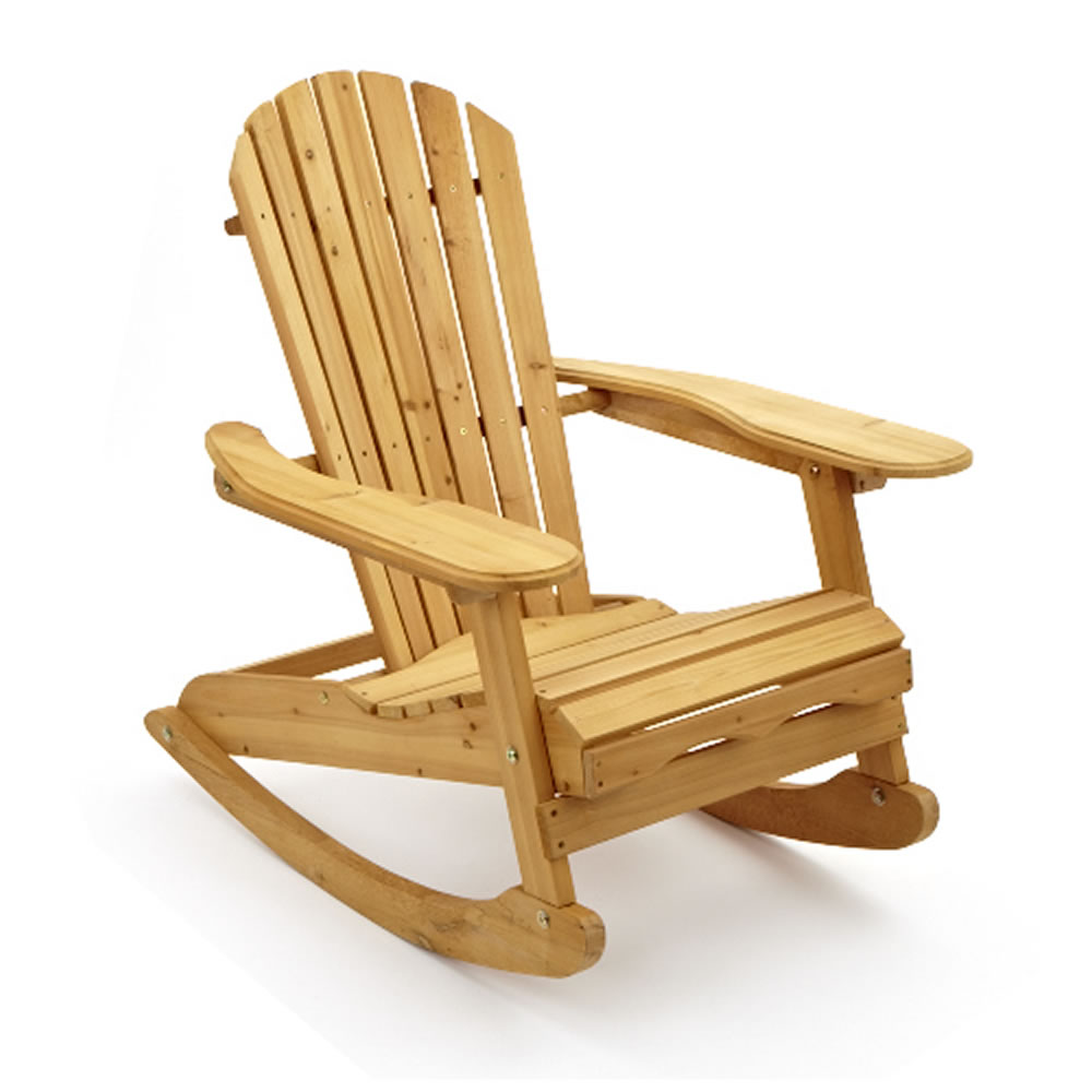 trueshopping bowland adirondack wooden rocking chair for garden or patio ebay. Black Bedroom Furniture Sets. Home Design Ideas