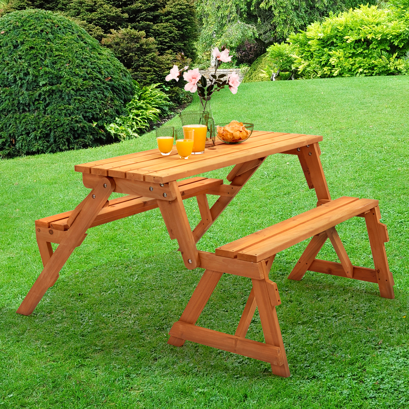 seats diy into bench folding watch picnic convertible table youtube folds that