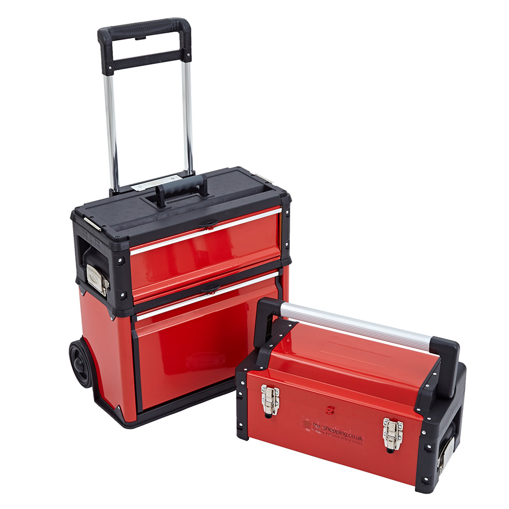 3-in-1 Trolley Tool Box Set 3 Drawers Boxes Storage Cabinet ...
