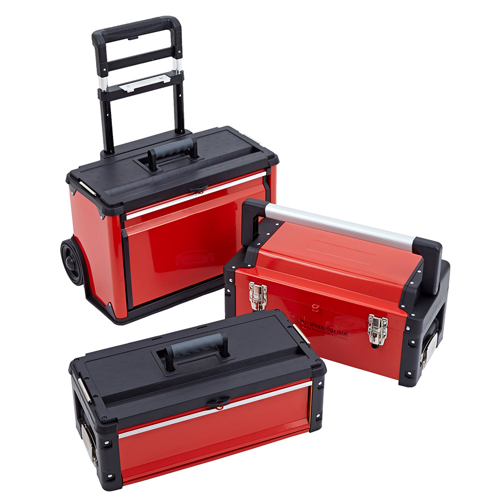 Portable Storage Cabinet On Wheels : In trolley tool box set drawers boxes storage